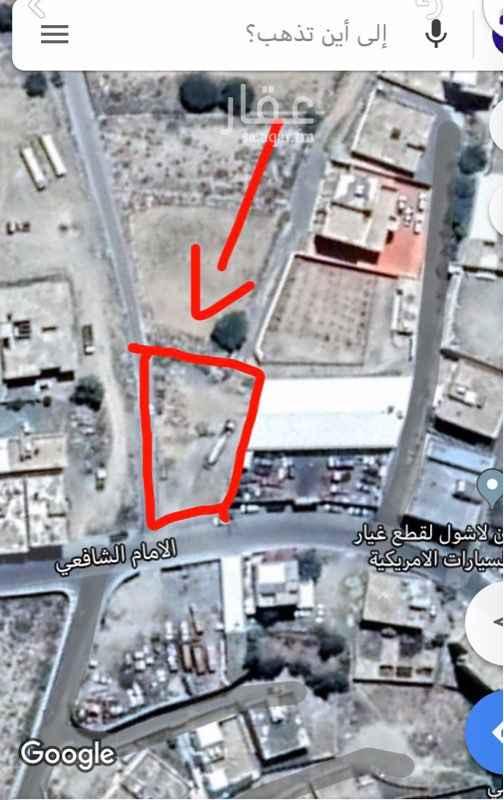 أرض للإيجار في شارع الامام الشافعي ، النماص