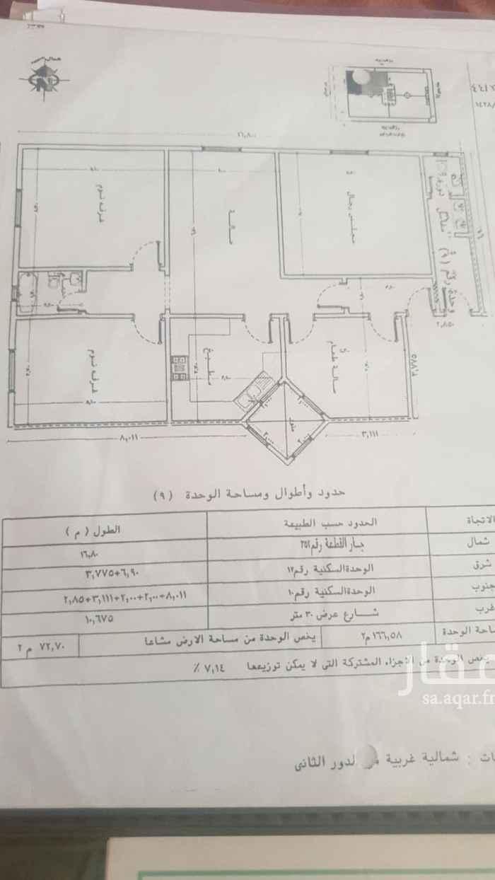 شقة للبيع في شارع الشفيقي ، حي الحمراء ، الرياض ، الرياض