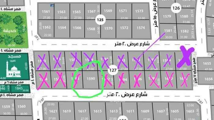 أرض للبيع في شارع لقاح ، حي عكاظ ، الرياض