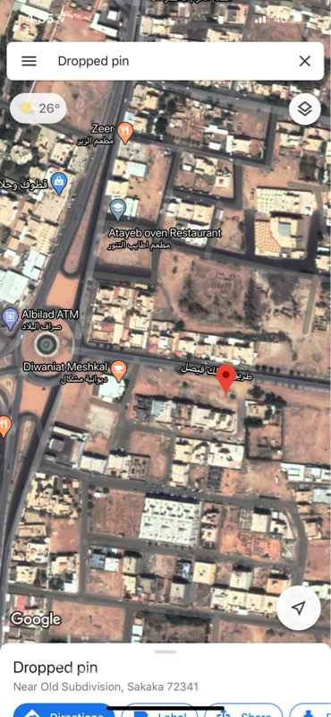 أرض للبيع في شارع الملك فيصل ، حي مخطط القديم ، سكاكا ، سكاكا