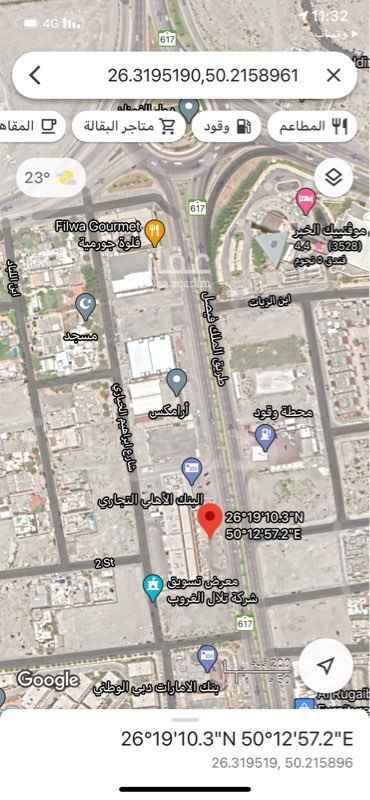 أرض للإيجار في طريق الملك فيصل ، حي البستان ، الخبر ، الخبر