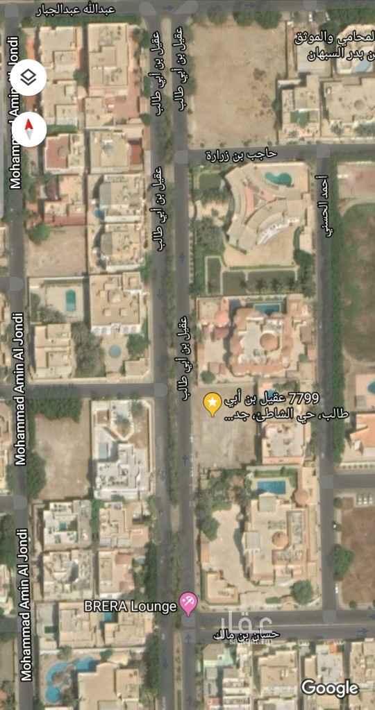أرض للبيع في شارع عقيل بن أبي طالب ، حي الشاطئ ، جدة ، جدة