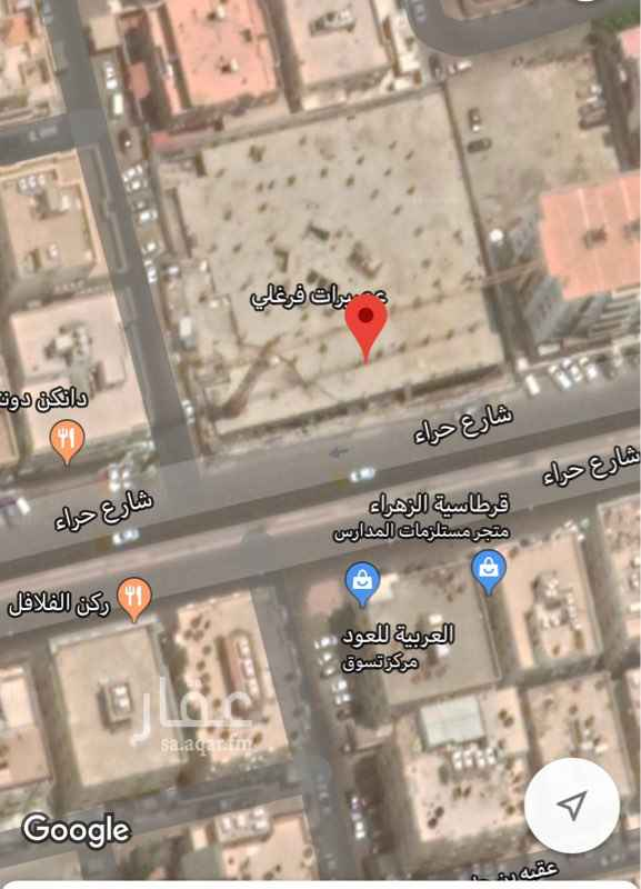 أرض للإيجار في شارع حراء ، حي النهضة ، جدة