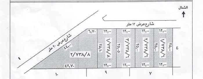 أرض للبيع في شارع صيتان العطاوي ، حي العزيزية ، الرياض ، الرياض