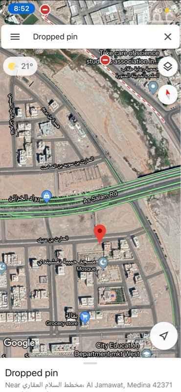 أرض للبيع في شارع الحارث بن عتيك ، حي الجماوات ، المدينة المنورة ، المدينة المنورة