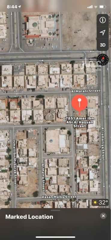 أرض للبيع في شارع عامر بن ابي الحسن ، حي الازدهار ، الرياض