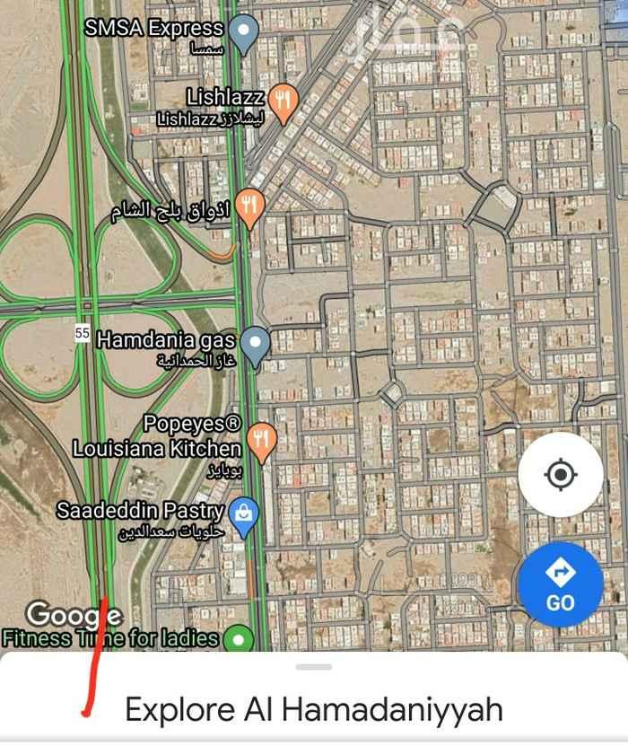 أرض للإيجار في شارع خالد بن ربيعة بن مر بن حارثة ، حي الحمدانية ، جدة ، جدة