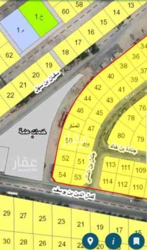 أرض للبيع في شارع ابو عبيدة عامر بن الجراح ، حي المنار ، الدمام