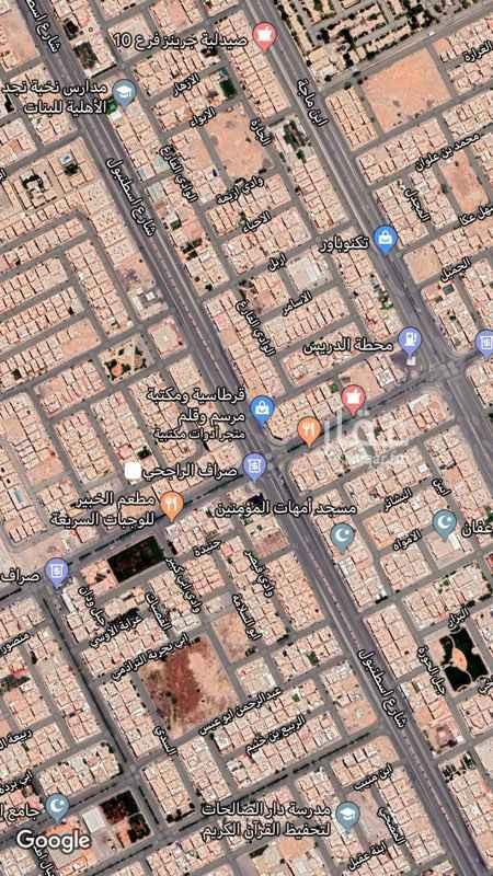 أرض للبيع في شارع اسطنبول ، حي الفيحاء ، الرياض