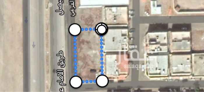أرض للإيجار في طريق الامام عبدالرحمن بن فيصل ، حي الروضة ، تبوك