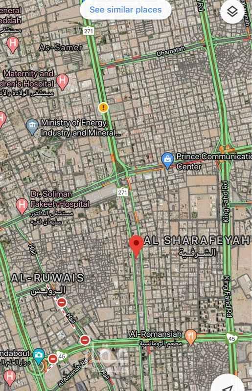 أرض للبيع في شارع ابو بكر الصديق ، حي الشرفية ، جدة ، جدة