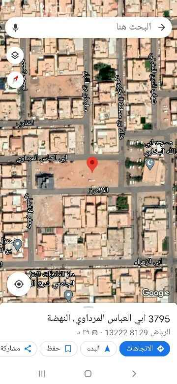 أرض للبيع في شارع عنترة بن شداد ، حي النهضة ، الرياض ، الرياض