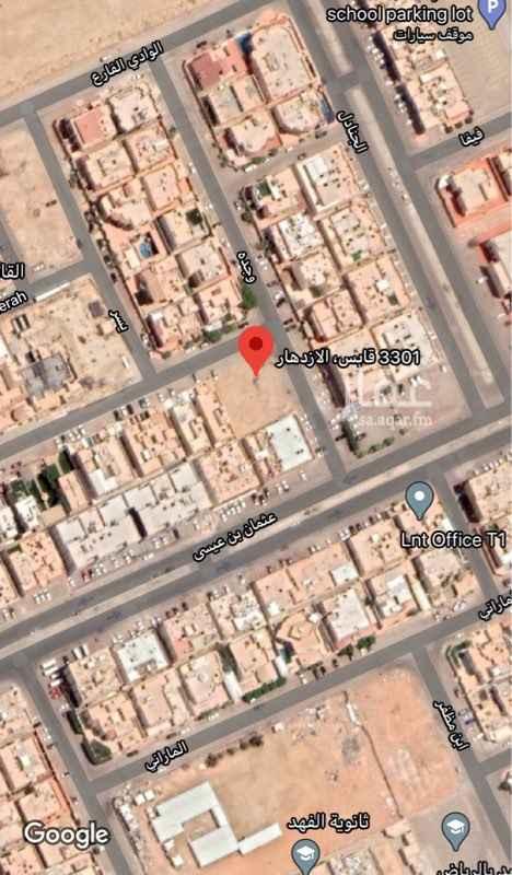 أرض للبيع في شارع عبدالعزيز القاضي ، حي الازدهار ، الرياض ، الرياض