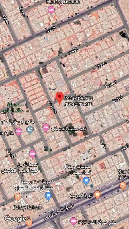 أرض للبيع في شارع الحبيل ، حي النفل ، الرياض