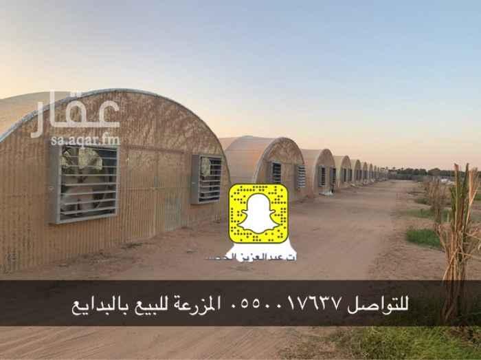 مزرعة للبيع في طريق الأمير نايف بن عبدالعزيز ، البدائع