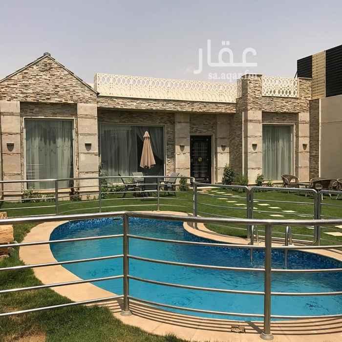 استراحة للبيع في شارع علي البجادي ، حي الرمال ، الرياض