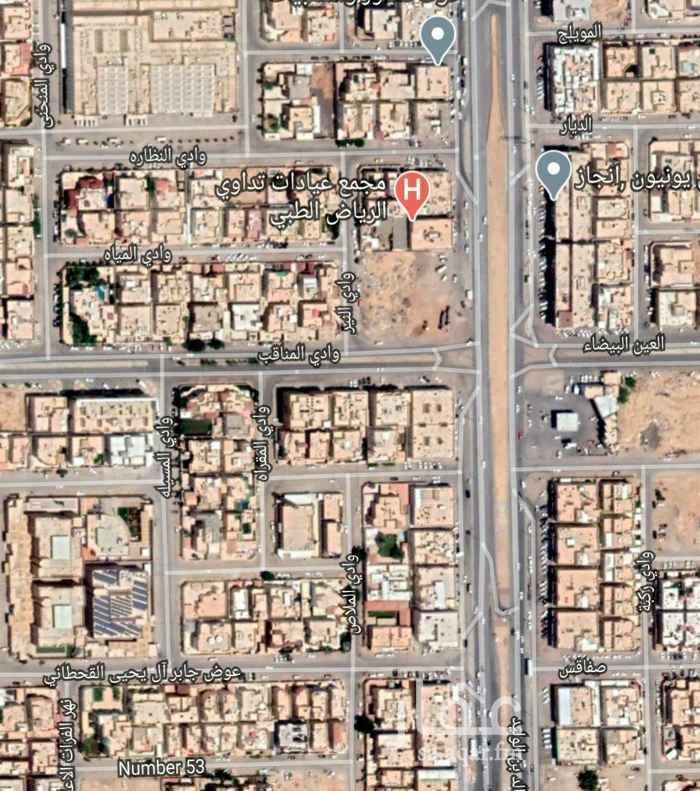 أرض للبيع في شارع وادي المناقب ، حي غرناطة ، الرياض ، الرياض