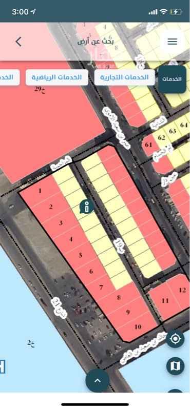 أرض للإيجار في شارع المزاحمية ، حي القادسية ، الدمام ، الدمام