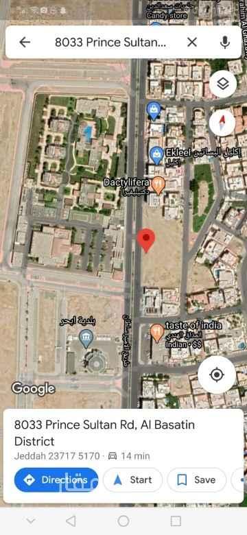 أرض للإيجار في طريق الامير سلطان ، حي البساتين ، جدة ، جدة