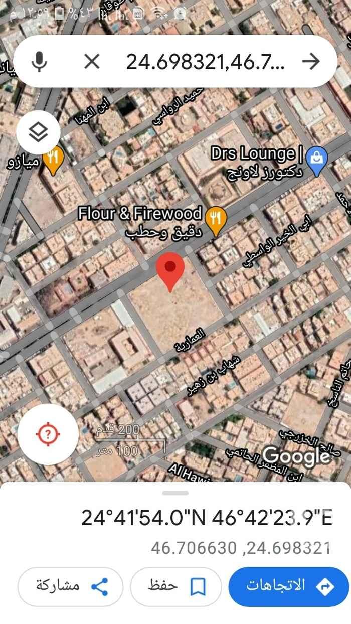 أرض للبيع في شارع الشامية ، حي السليمانية ، الرياض ، الرياض
