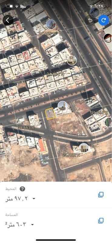 أرض للبيع في شارع جبار بن صخر ، حي الخالدية ، المدينة المنورة ، المدينة المنورة