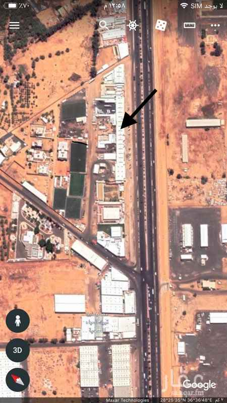 مستودع للإيجار في طريق الامير فهد بن سلطان ، حي منطقة الزراعية ، تبوك