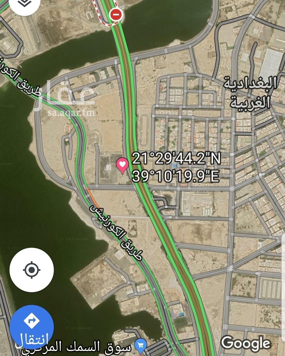 أرض للبيع في شارع الاندلس الفرعي ، حي البغدادية الغربية ، جدة