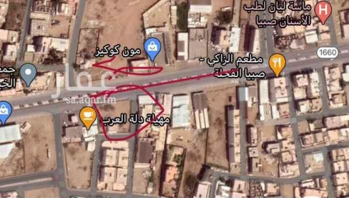 أرض للإيجار في طريق الملك فهد ، حي العزيزية ، صبيا ، صبياء
