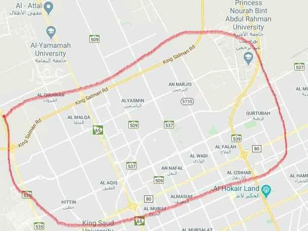 أرض للبيع في شارع عسفان ، حي النرجس ، الرياض ، الرياض