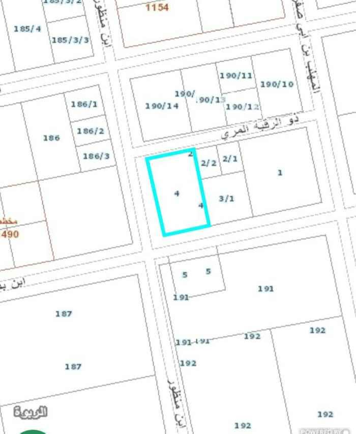 أرض للبيع في شارع ابي حذيفة ، حي الربوة ، الرياض ، الرياض