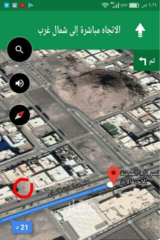 أرض للبيع في شارع سليم بن الحارث الأنصاري ، حي الدفاع ، المدينة المنورة ، المدينة المنورة