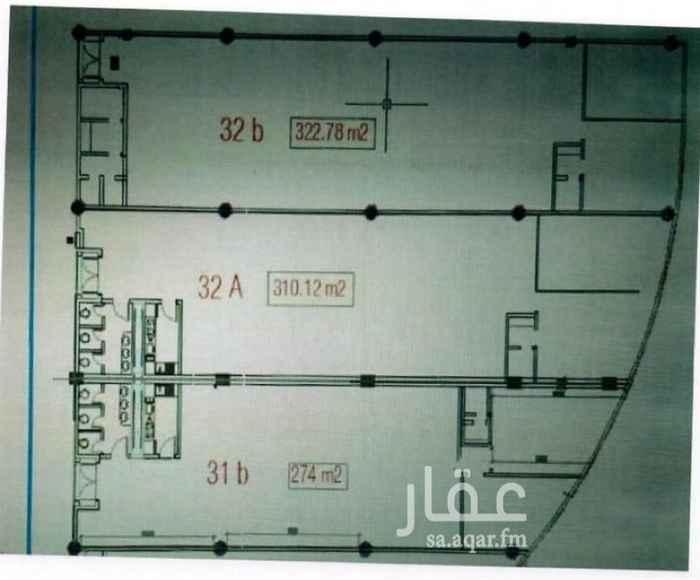 مكتب تجاري للإيجار في شارع اللبيد ، حي المعذر الشمالي ، الرياض