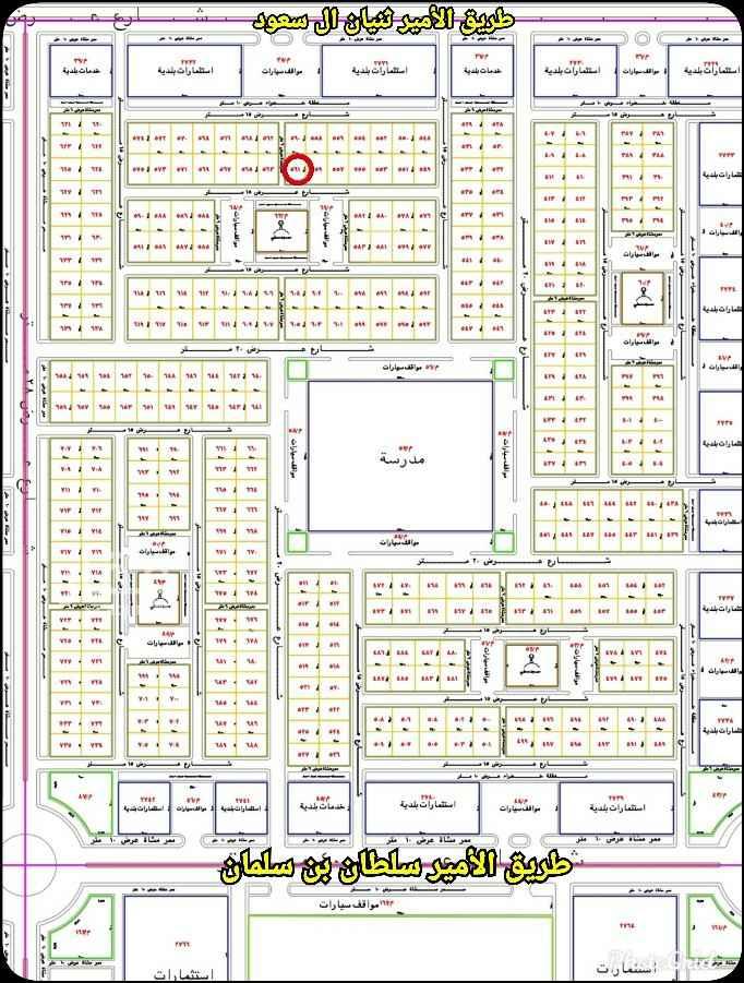 أرض للبيع في شارع الأمير ثنيان بن سعود ، حي الملك عبدالله ، المجمعة ، المجمعة