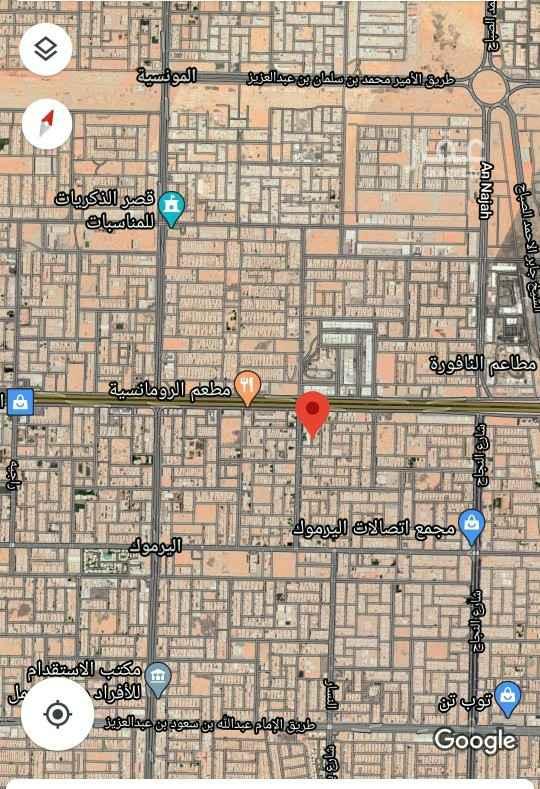 أرض للبيع في شارع الحنفا ، حي اليرموك ، الرياض ، الرياض