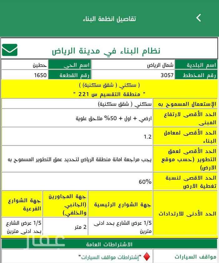 أرض للبيع في شارع الامير فهد بن محمد بن عبدالعزيز ، حي حطين ، الرياض ، الرياض