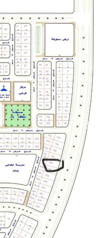أرض للبيع في شارع الملك عبد العزيز ، حي الريان ، حفر الباطن ، حفر الباطن