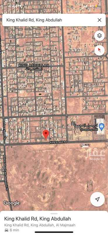 أرض للبيع في طريق الملك خالد ، حي الملك عبدالله ، المجمعة ، المجمعة