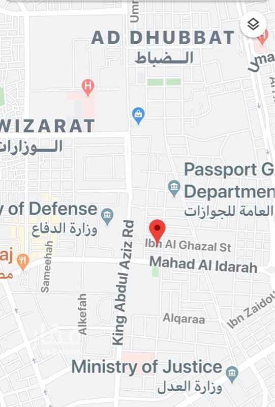 أرض للبيع في شارع شدية ، حي الضباط ، الرياض ، الرياض