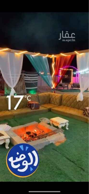 مخيم للإيجار في طريق الملك فهد ، حي القيروان ، الرياض ، الرياض