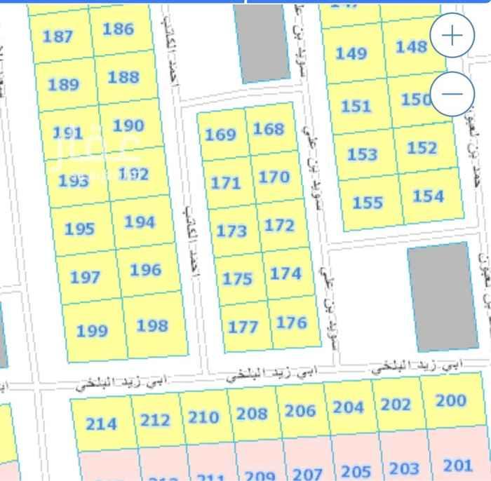 أرض للبيع في شارع احمد الكاتب ، حي الدرعية الجديدة ، الرياض