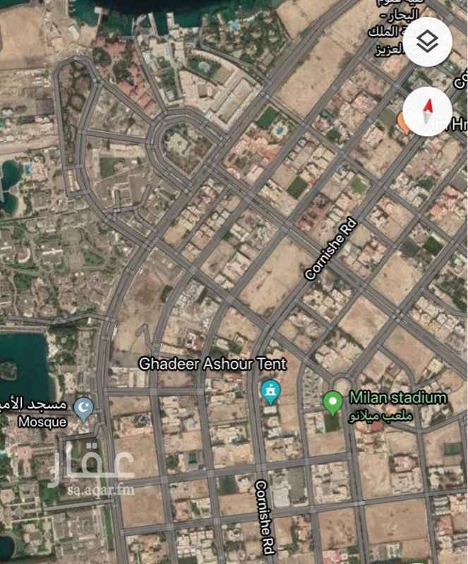 أرض للبيع في طريق الكورنيش ، حي المرجان ، جدة ، جدة