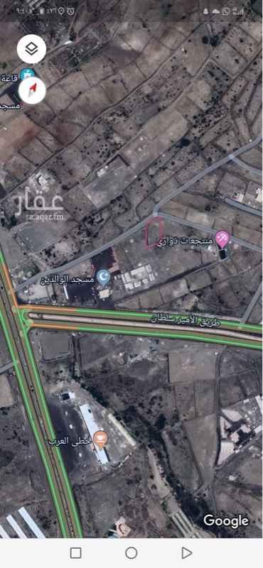 أرض للإيجار في طريق الأمير سلطان ، حي ضمك ، أبها