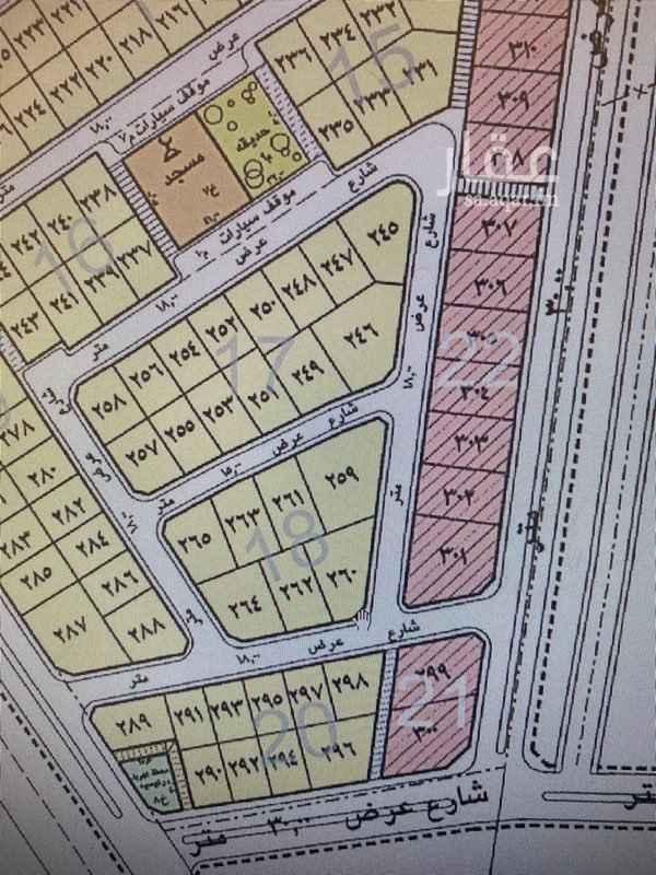 أراضي سكني للبيع في حي هجر تطبيق عقار