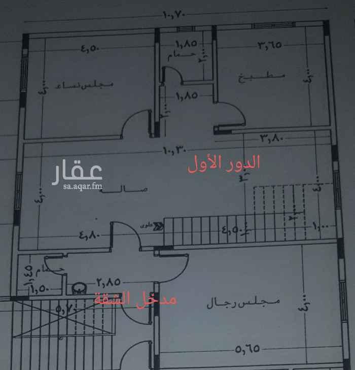 شقة للإيجار في شارع عرده ، حي عكاظ ، الرياض