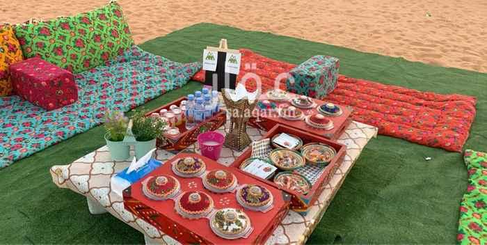 مخيم للإيجار في شارع العليا ، حي العارض ، الرياض ، الرياض