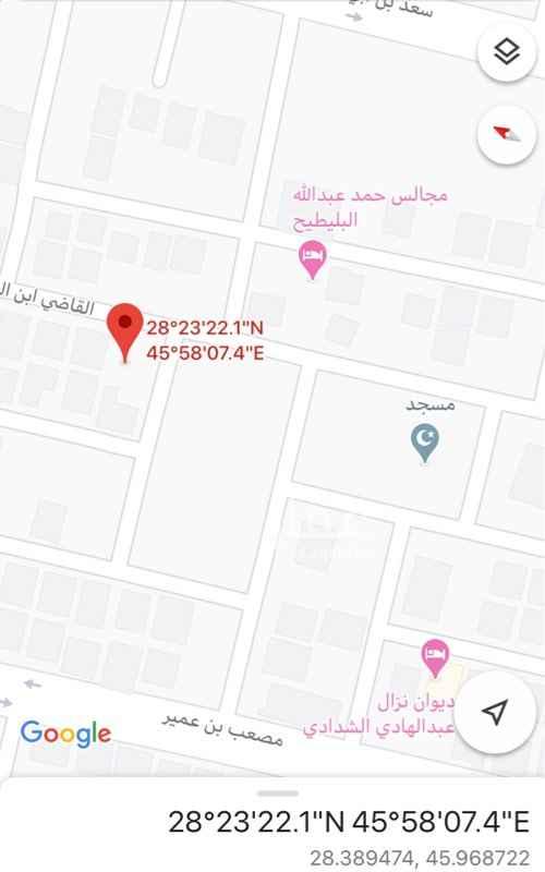 أرض للبيع في شارع القاض ابن العربي ، حي المحمدية ، حفر الباطن ، حفر الباطن