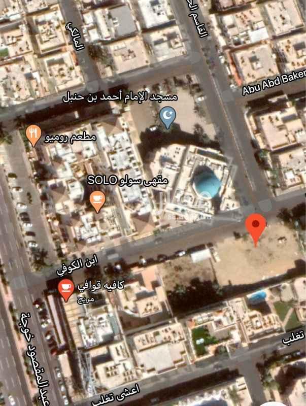 أرض للبيع في شارع ابن الكوفي ، حي الروضة ، جدة ، جدة