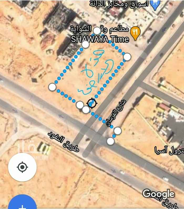 أرض للإيجار في شارع الفرسان ، حي عكاظ ، الرياض ، الرياض
