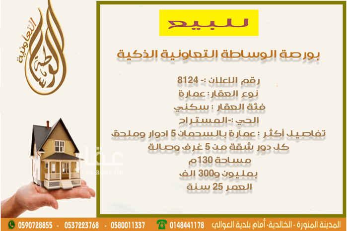 عمارة للبيع في شارع سعد بن عامر الانصاري ، حي الخالدية ، المدينة المنورة