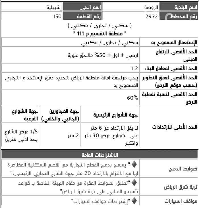 أرض للبيع في شارع ابن الحوازي ، حي اشبيلية ، الرياض ، الرياض
